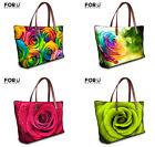 Rose Women Ladies Shopping Handbag Hobo Tote Purse Shoulder Bag Casual Satchel