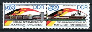 DDR MiNr. 3052 I postfrisch MNH Plattenfehler im waag. Paar (PL320