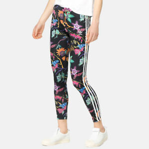a9a2ef1e1a5 Image is loading ADIDAS-ORIGINALS-POISONOUS-GARDENS-FLORAL-LEGGINGS-SIZES -UK-