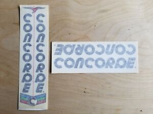 Black Text Stickers Concorde Gavina Bicycle Decals Transfers