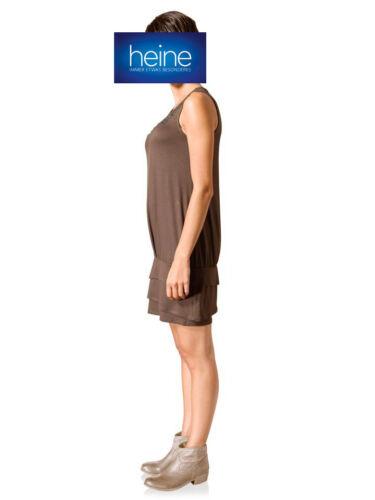 KP 59,90 € SALE/% Taupe Shirtkleid MANDARIN by heine NEU!! Nietenverzierung