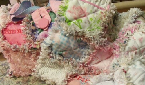 Handmade homemade Personalized Boy or Girl Baby Rag Quilt and Diaper Bag
