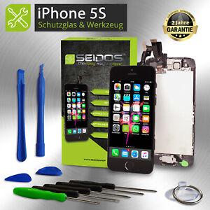 Display-fuer-iPhone-5S-mit-RETINA-LCD-Glas-VORMONTIERT-Komplett-Front-SCHWARZ-NEU