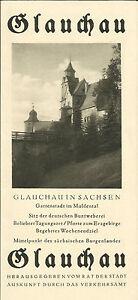Glauchau-in-Sachsen-Reisefuehrer-Reise-Prospekt-von-1930-Flyer