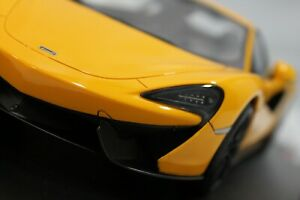 Details about NEW 1/18 MCLAREN 570s VOLCANO YELLOW TRUE SCALE TOP SPEED  TS0046 RARE W/BASE