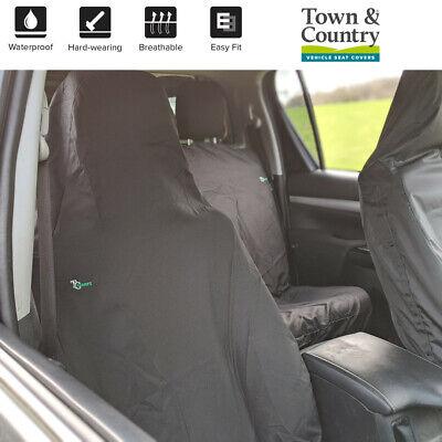 2 x Fronts Heavy Duty Black Waterproof Car Seat Covers FORD FIESTA VAN