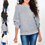 Womens-Ladies-Batwing-Knit-Sweater-Long-Sleeve-Oversized-Loose-Jumper-Pullover thumbnail 7