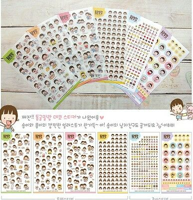 6 sheet  Cute Love Girl DIY Schedule Diary calendar Filofax Decoration Sticker