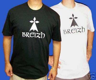 BRETAGNE: Tshirt BREIZH Noir Blanc 3ans àXXL /&XXXL - BZH Breton Bretonne