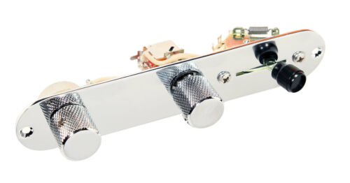 Fender Telecaster 7-Way Reverse Loaded Control Plate Chrome CTS CRL Switch