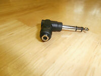 "LKG 3.5mm Stereo Jack to 1/4"" Plug Right Angle Adapter : 559RA"