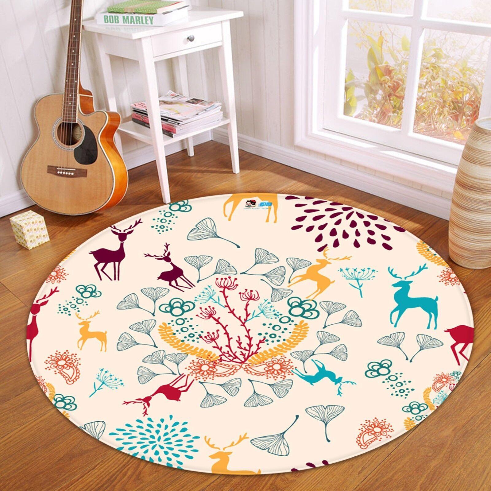 3D Christmas  Xmas 494 Non Slip Rug Mat Room Mat Round Elegant Photo Carpet AU
