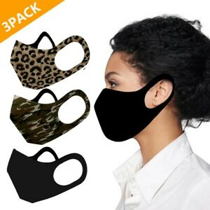 3PC Outdoor Protective Unisex Mouth Face Cover Washable Reusable Breathable Mask
