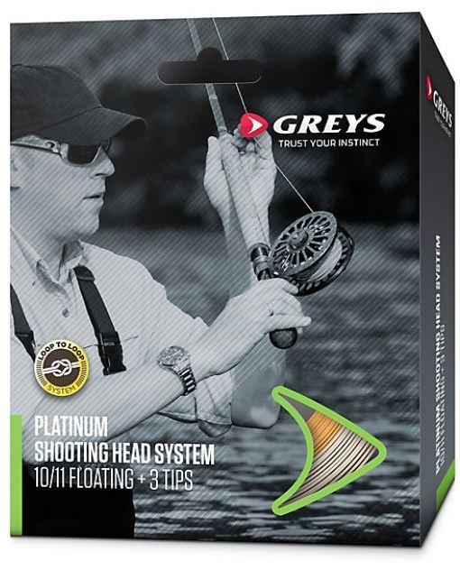 grauS Platinum Shooting Head System Intermediate 9/10 + + + 3 Tips Fliegenschnur b13c5d