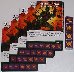 GOBLIN GRANDMASTER 89//142 The Amazing Spider-Man Dice Masters 4 X GREEN GOBLIN