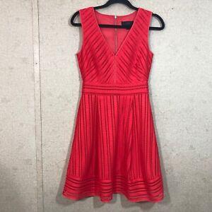 J-Crew-Striped-Eyelet-A-Line-Dress-Women-039-s-Size-0