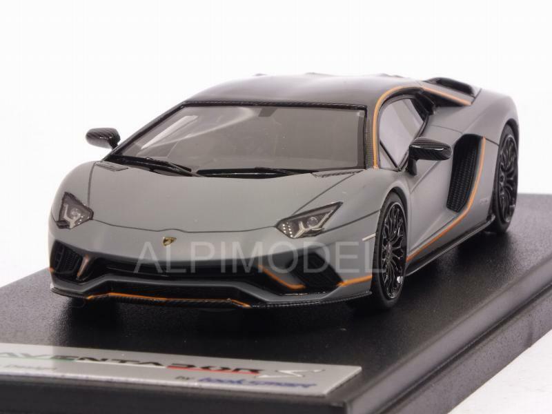 Lamborghini Aventador S 2016 gris Acheso 1 43 LOOKSMART LS468SE