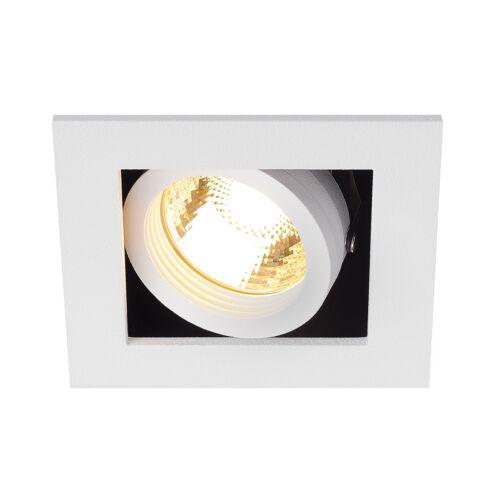 carré 50W Intalite kadux 1 GU10 downlight blanc mat
