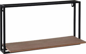 Metall-Haengeregal-mit-Holz-Ablage-diverse-Designs-Schweberegal-Wandregal