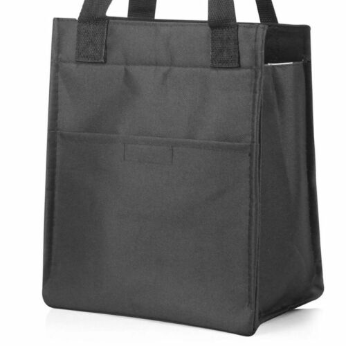 Black Women Insulated Lunch Bag Cooler Picnic Travel Food Box Tote Carry Bags