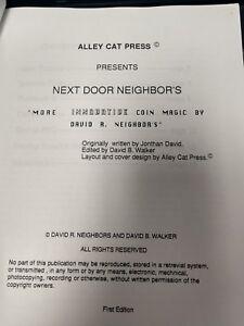 David-Neighbors-Lecture-Notes-Autographed-NEXT-DOOR-NEIGHBORS
