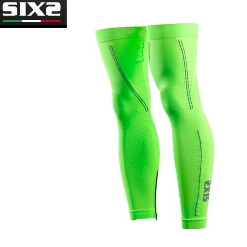 Leg warmers X MIX Bike BIKE SIXS GREEN FLUO 100% made in  GAMI