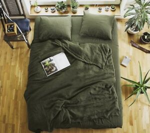 100-Hemp-Bedding-set-4pcs-Duvet-Cover-Flat-Sheet-Pillowcase-as-Luxury-Life-Gift