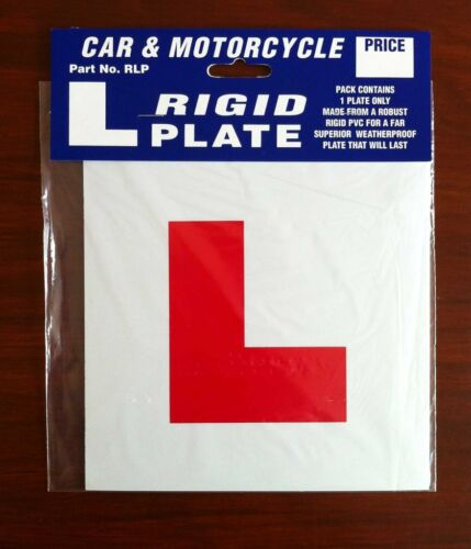 Motorcycle Scooter L Plate Rigid Learner Plate