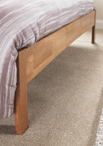 OPAL WHITE or GREY Finish Bedstead Hevea Hard Wood Bed Frame HONEY OAK Finish