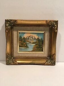 Mountain-River-Landscape-Oil-Painting-Gold-Gilt-Frame