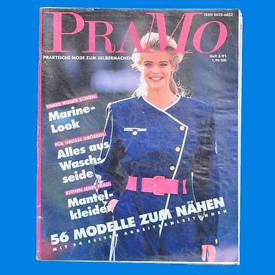 Schlussverkauf Pramo 3/1991 Praktische Mode Schnittmuster | Marine-look Waschseide Mantelkleid