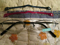 Personal Optics Compact Reading Glasses W 2 Removable Magnetic Fun Frames