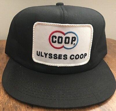Rare VTG COOP. Ulysses Kansas Trucker Snapback Hat Cap 5a32b91de2dd