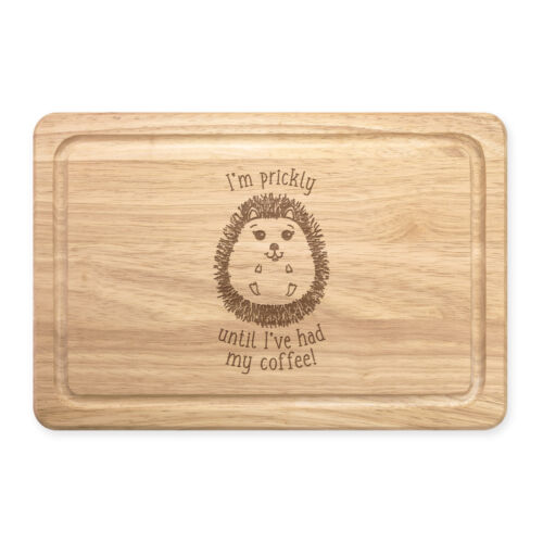 Je suis Prickly jusqu/'à ce que j/'ai eu mon café Hérisson rectangulaire en bois à découper planche