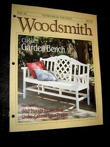 Awesome Details About Woodsmith Magazine No 93 Vol 16 June 1994 Notes From The Shop Garden Bench Spiritservingveterans Wood Chair Design Ideas Spiritservingveteransorg