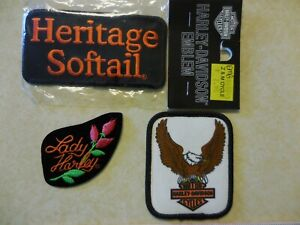 LOT-of-3-Harley-Davidson-Logo-Patches-Badges-Embroidered