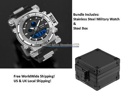 Military Tactical Men's Watch Analog Digital Infantry Army Navy Quartz Sport 30M