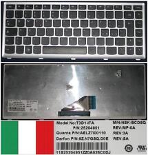 Qwertz-tastatur Italienisch LENOVO IdeaPad U310, 9Z.N7GSQ.D0E NSK-BCDSQ Schwarz