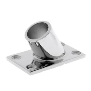 "1PC Boat Hand Rail Fitting 60 Degree 7//8/"" Rectangular Base Stainless Steel"