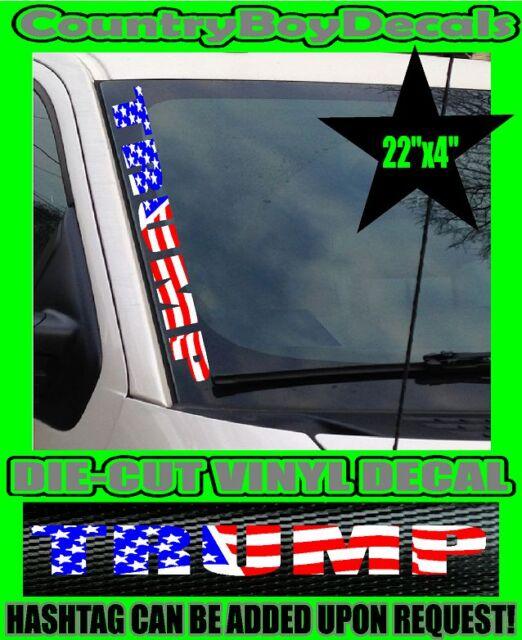 TRUMP STICKER FUNNY DECALS NOT MY PRESIDENT CAR TRUCK LAPTOP POLITICS USA