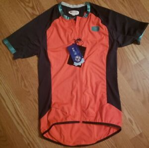 NWT-SUGOi-Women-s-Cycling-Climber-s-Jersey-Orange-Multi-Color-S-S-Size-S-57319F