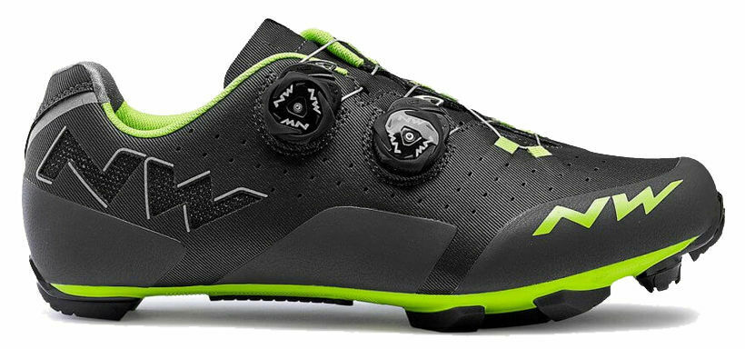 Northwave Rebel shoes ciclismo MTB - Antracite green TG 40