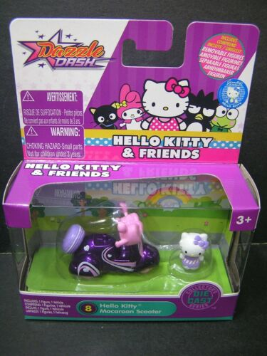 2018 Jada Dazzle Dash Hello Kitty /& Friends DieCast HELLO KITTY Macaroon Scooter
