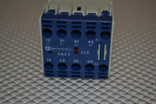 ONE USED TELEMECANIQUE  CONTROL RELAY CA2-EN 122.