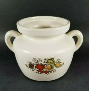 Vintage McCoy Ceramic Pottery Bean Pot Cookie Jar #341 Spice of Life or Delight