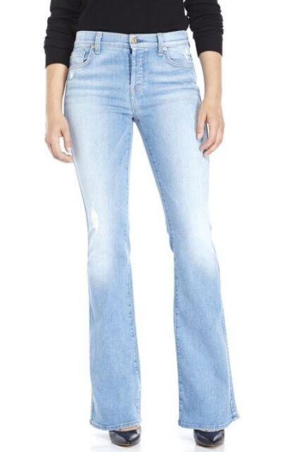 a7ce56ec0b40 7 For All Mankind Women s High Waist Vintage Bootcut Light Blue Jeans 28