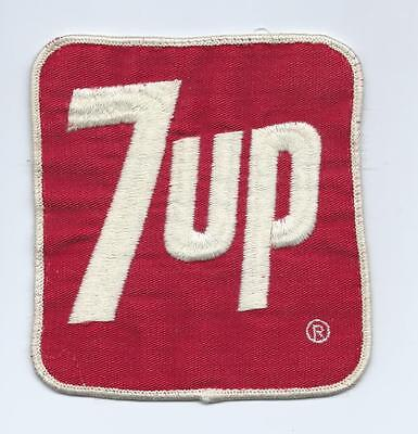 """VINTAGE 1960S 7-UP 5"""" X 5"""" DRIVERS EMBROIDERED PATCH UNUSED"""