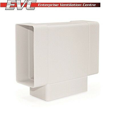Plastic Horizontal Tee Piece - Hydroponics, Domestic Ventilation, Extraction