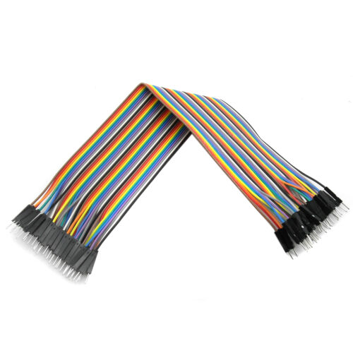 2 pcs 40PCS 30cm 2.54mm Male to Male Dupont Cable Jumper Wire 1P-1P For Arduino