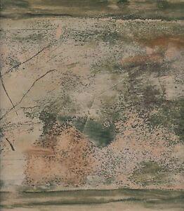 Wallpaper-Border-Modern-Art-Look-Green-Bronze-amp-Beige-Abstract-Faux-Finish